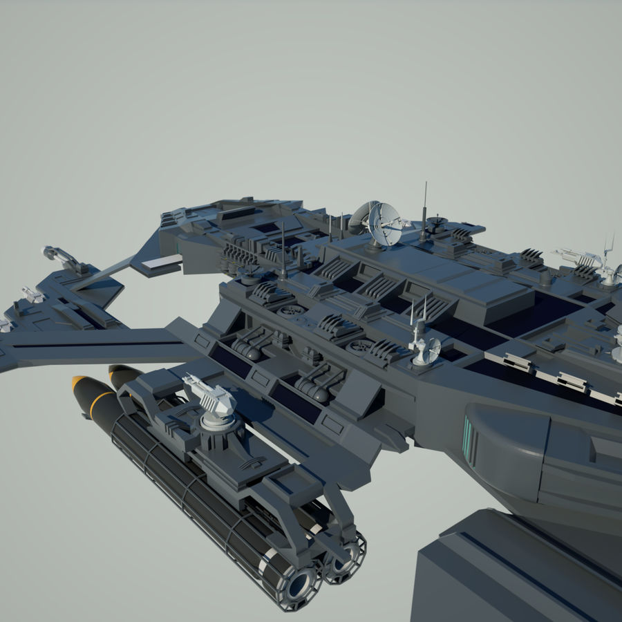 Battlestar royalty-free 3d model - Preview no. 11