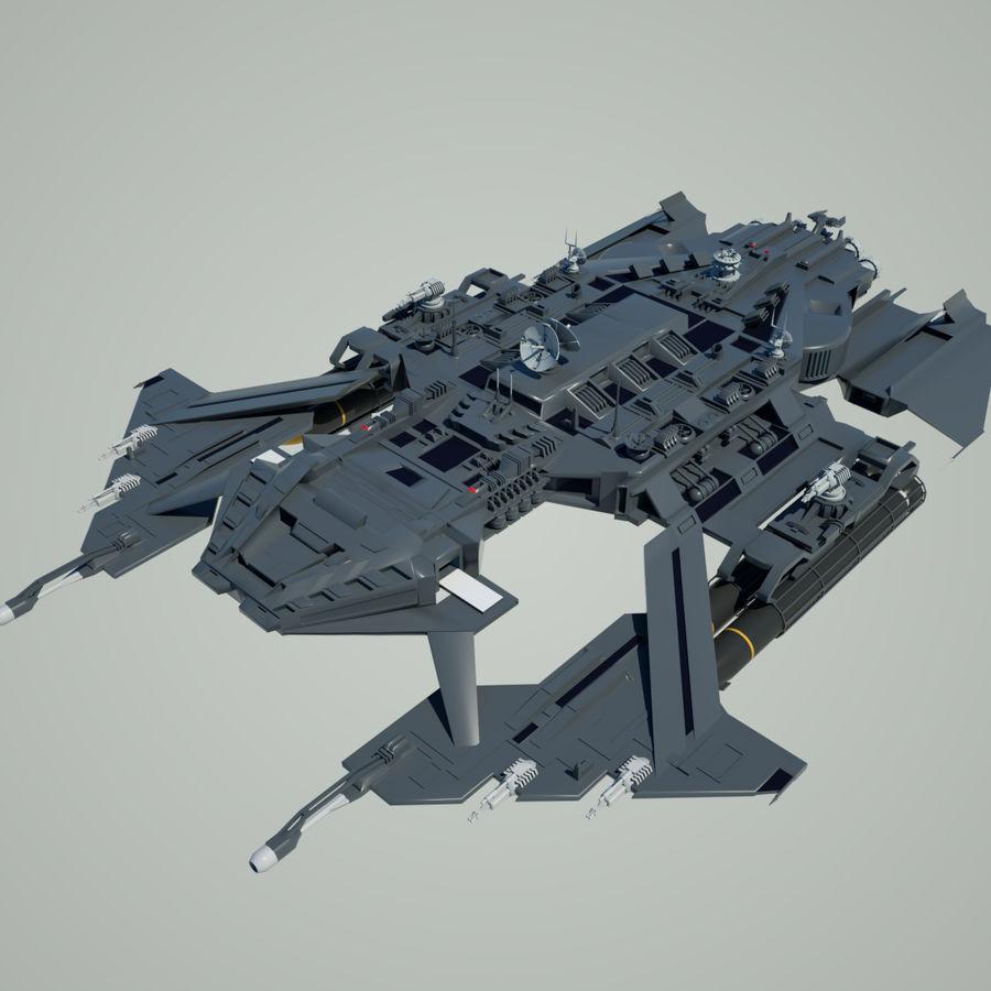 Battlestar royalty-free 3d model - Preview no. 1