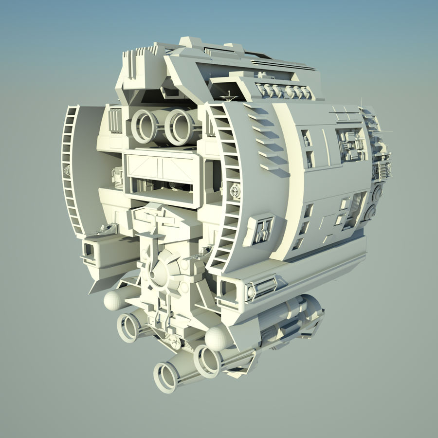 基地宇宙飞船 royalty-free 3d model - Preview no. 4