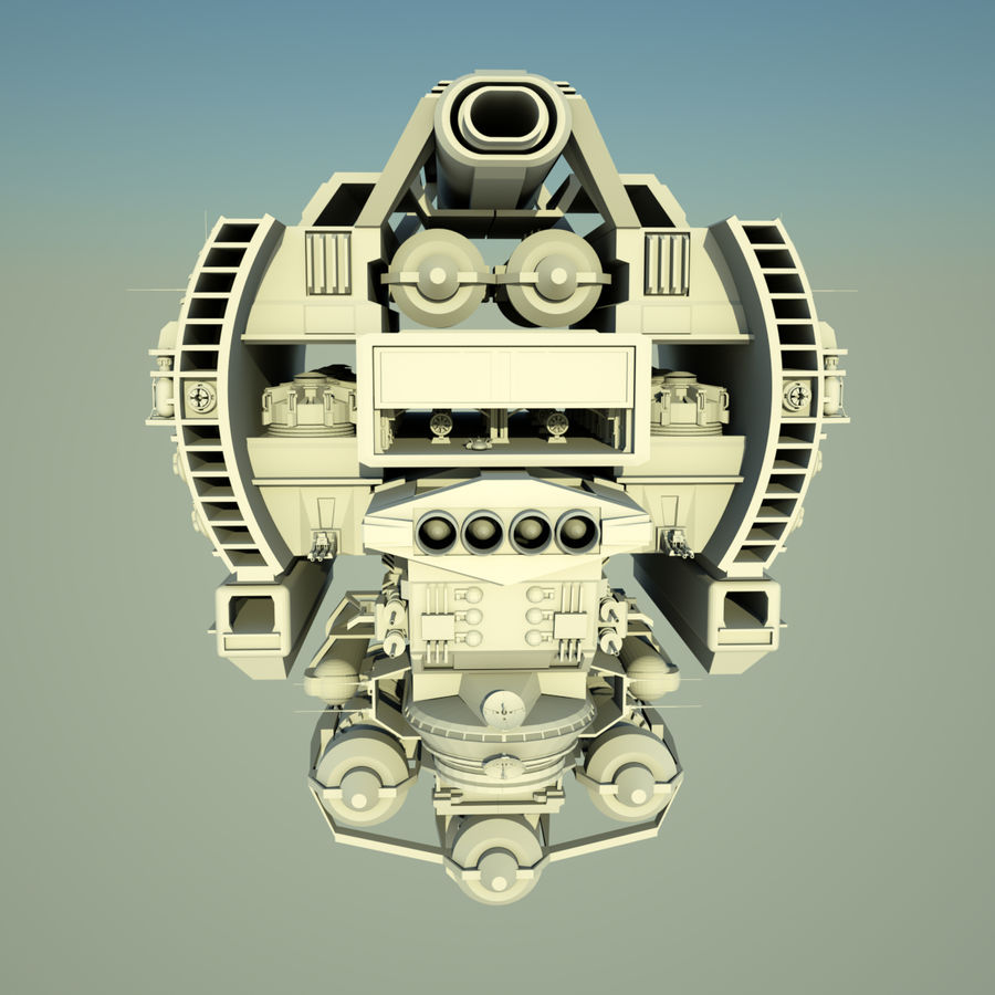 基地宇宙飞船 royalty-free 3d model - Preview no. 6
