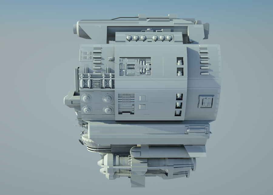 基地宇宙飞船 royalty-free 3d model - Preview no. 8