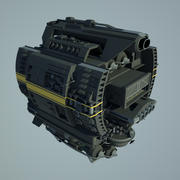 Base rymdskepp 3d model