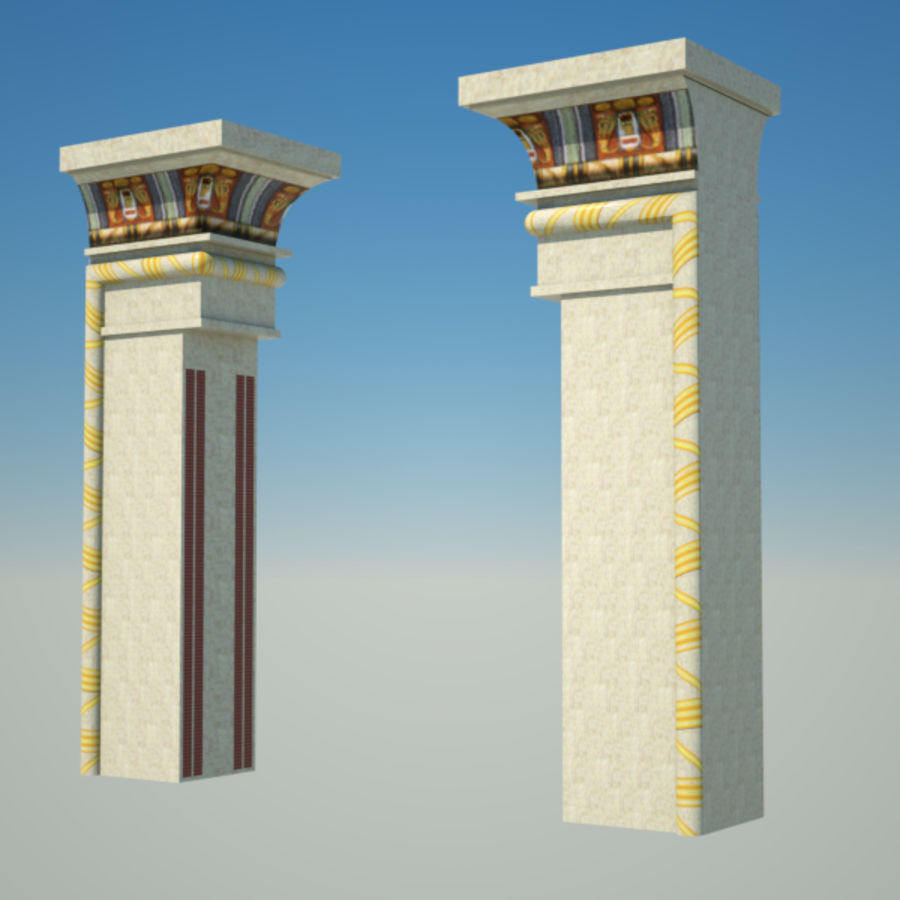 Egyptian architecture objects royalty-free 3d model - Preview no. 11