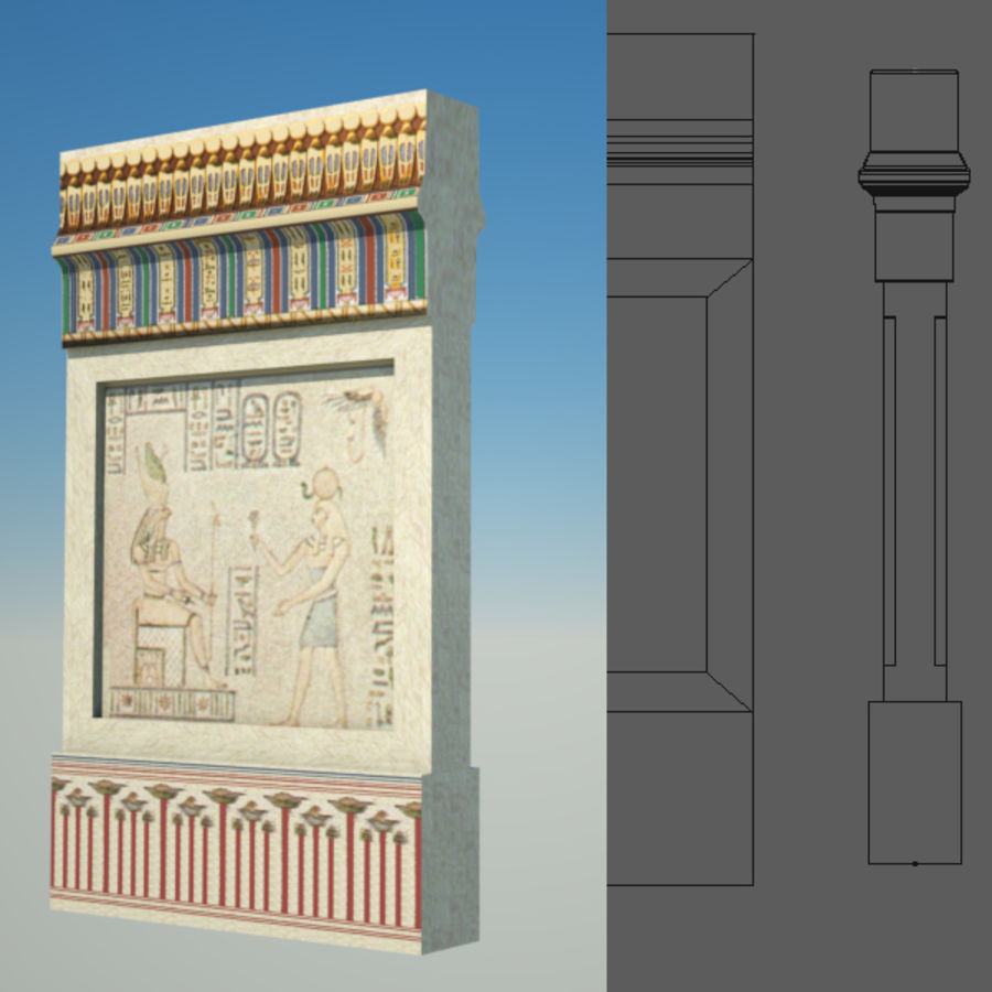 Egyptian architecture objects royalty-free 3d model - Preview no. 9