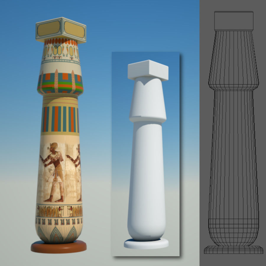 Egyptian architecture objects royalty-free 3d model - Preview no. 4