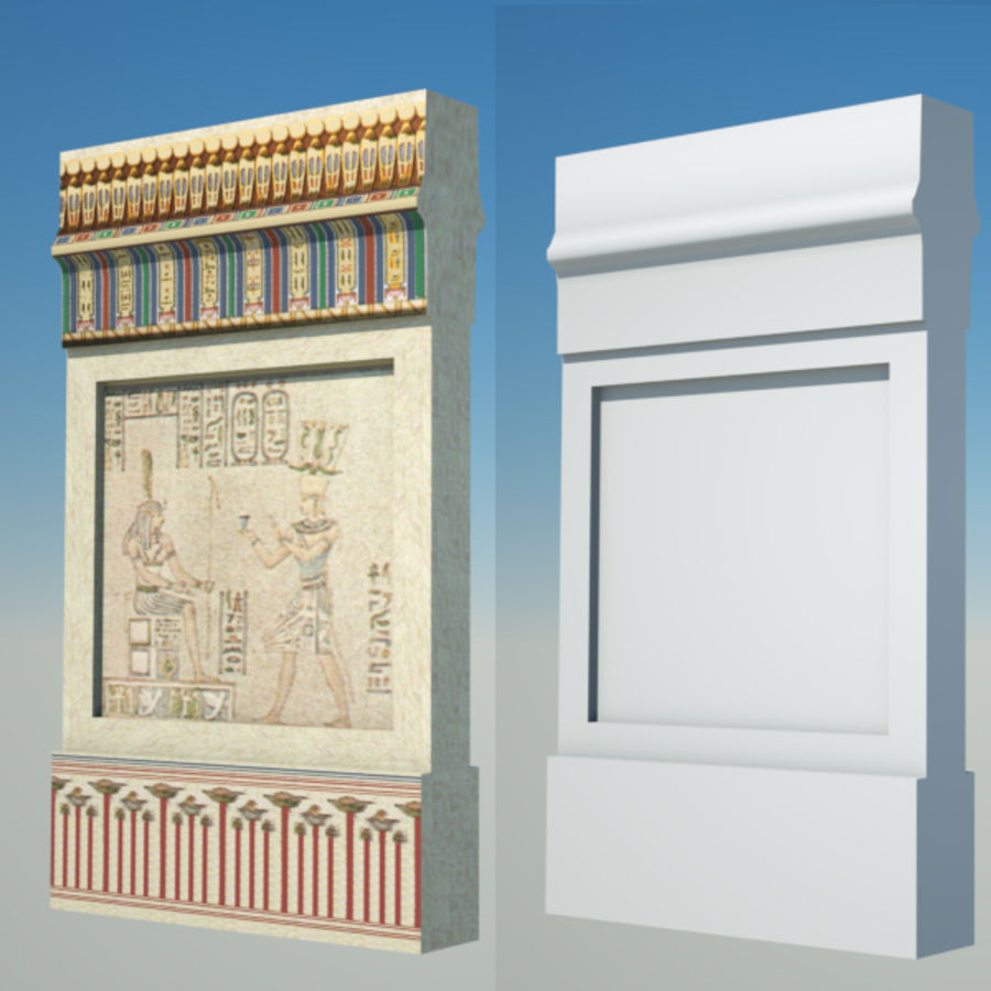 Egyptian architecture objects royalty-free 3d model - Preview no. 10