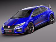 Honda Civic type R concept 2015 3d model