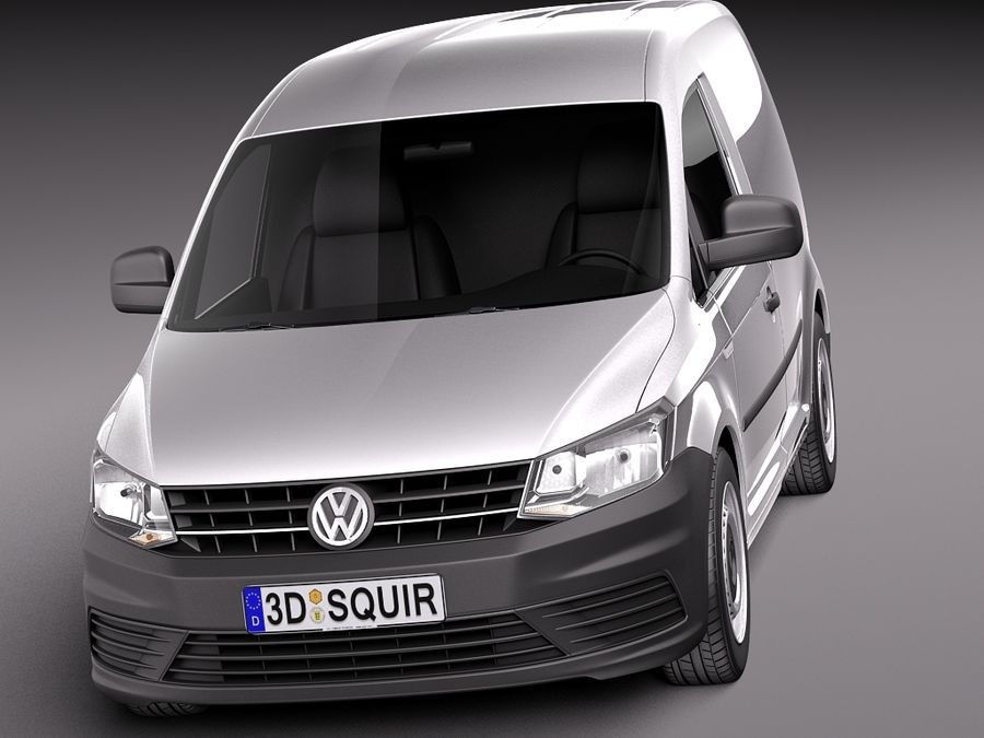 Volkswagen Caddy Cargo VAN 2016 royalty-free 3d model - Preview no. 2
