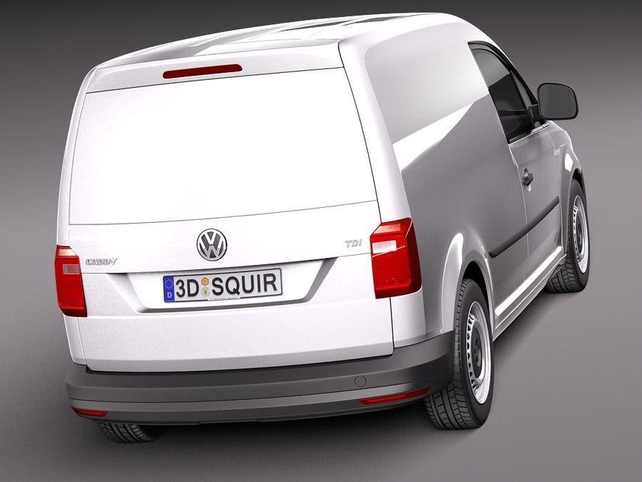 Volkswagen Caddy Cargo VAN 2016 royalty-free 3d model - Preview no. 6