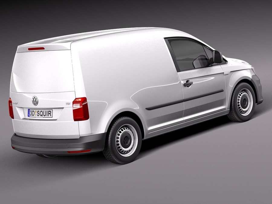 Volkswagen Caddy Cargo VAN 2016 royalty-free 3d model - Preview no. 5