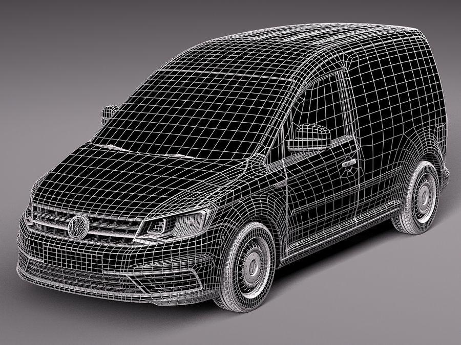 Volkswagen Caddy Cargo VAN 2016 royalty-free 3d model - Preview no. 11