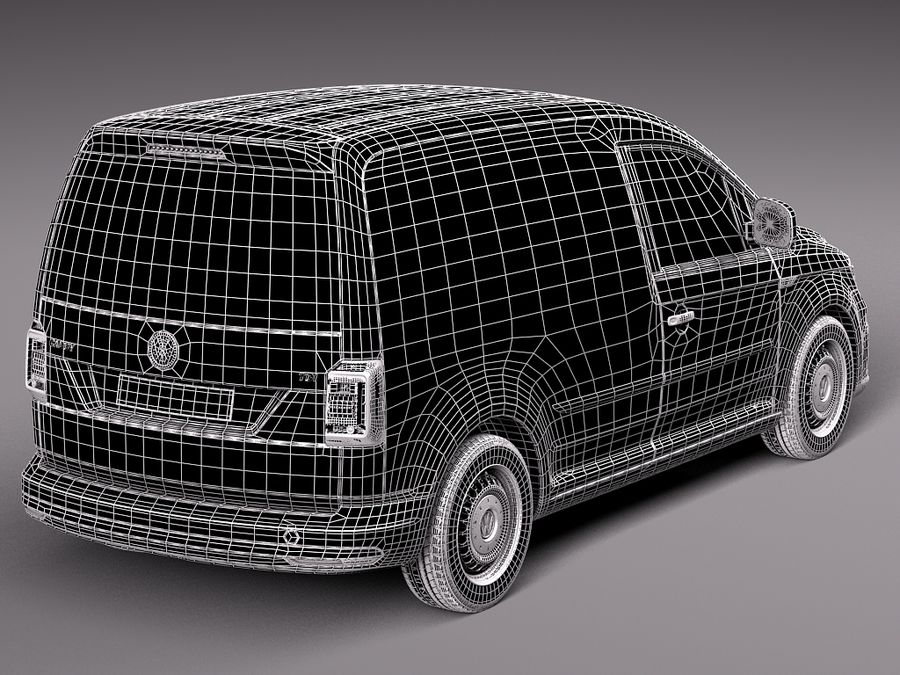 Volkswagen Caddy Cargo VAN 2016 royalty-free 3d model - Preview no. 12
