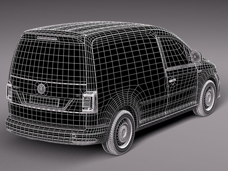 Volkswagen Caddy Cargo VAN 2016 royalty-free 3d model - Preview no. 12