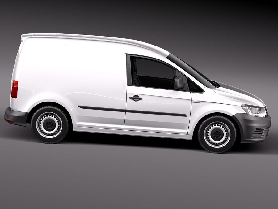 Volkswagen Caddy Cargo VAN 2016 royalty-free 3d model - Preview no. 7
