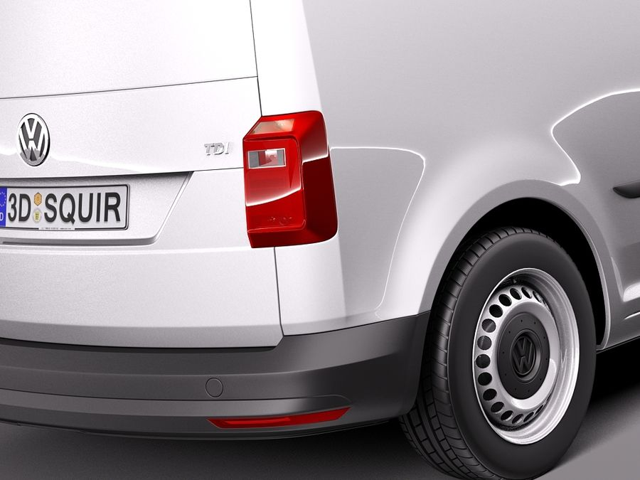 Volkswagen Caddy Cargo VAN 2016 royalty-free 3d model - Preview no. 4