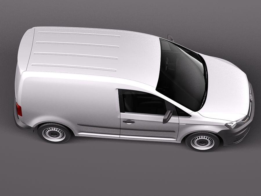 Volkswagen Caddy Cargo VAN 2016 royalty-free 3d model - Preview no. 8