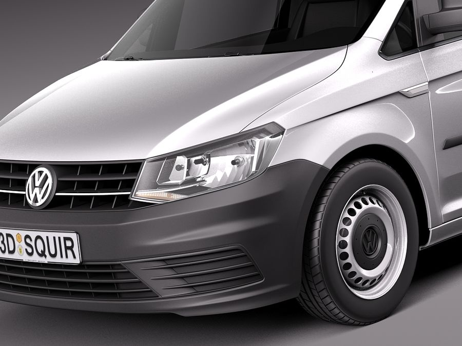 Volkswagen Caddy Cargo VAN 2016 royalty-free 3d model - Preview no. 3