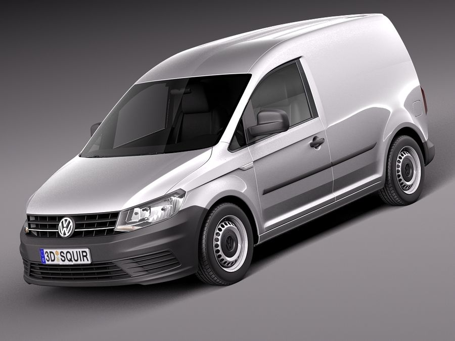 Volkswagen Caddy Cargo VAN 2016 royalty-free 3d model - Preview no. 1
