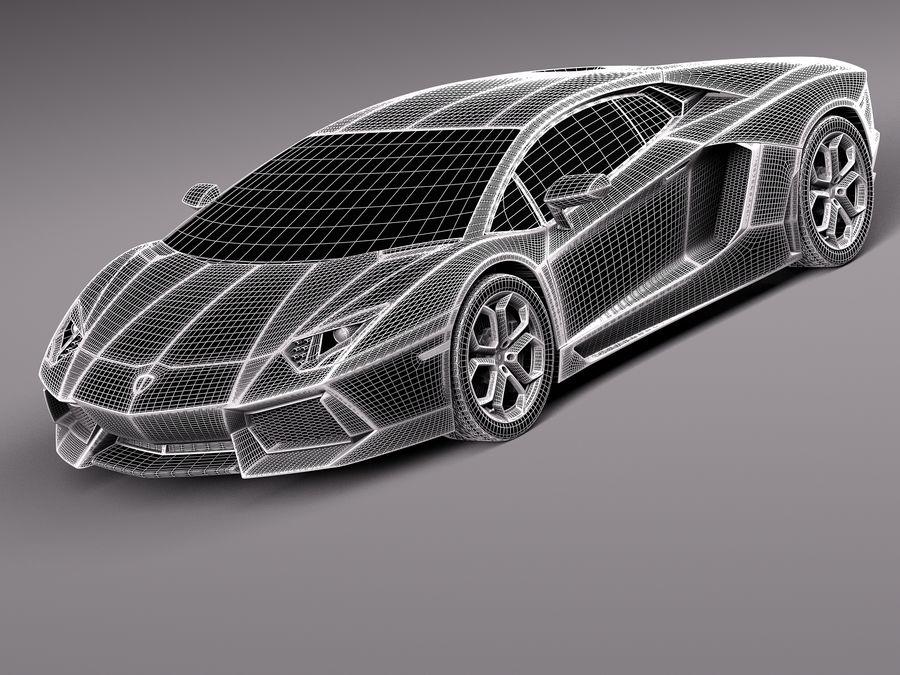 Lamborghini Aventador LP700-4 2015 royalty-free 3d model - Preview no. 10