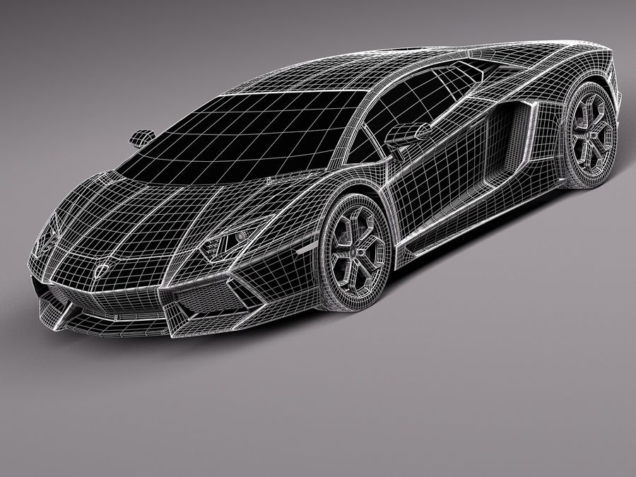 Lamborghini Aventador LP700-4 2015 royalty-free 3d model - Preview no. 11