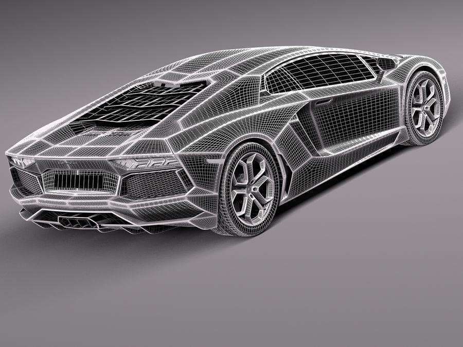 Lamborghini Aventador LP700-4 2015 royalty-free 3d model - Preview no. 9
