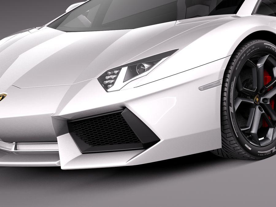 Lamborghini Aventador LP700-4 2015 royalty-free 3d model - Preview no. 3