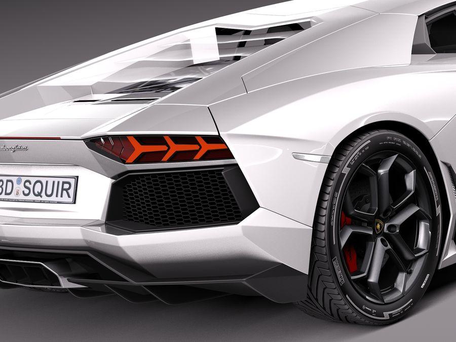 Lamborghini Aventador LP700-4 2015 royalty-free 3d model - Preview no. 4