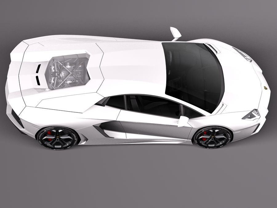 Lamborghini Aventador LP700-4 2015 royalty-free 3d model - Preview no. 8