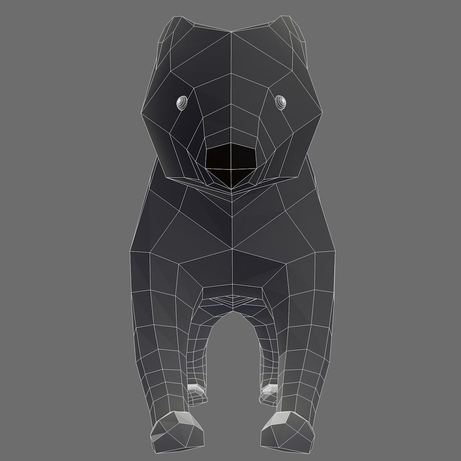 Bear Mishka Low Poly royalty-free 3d model - Preview no. 6