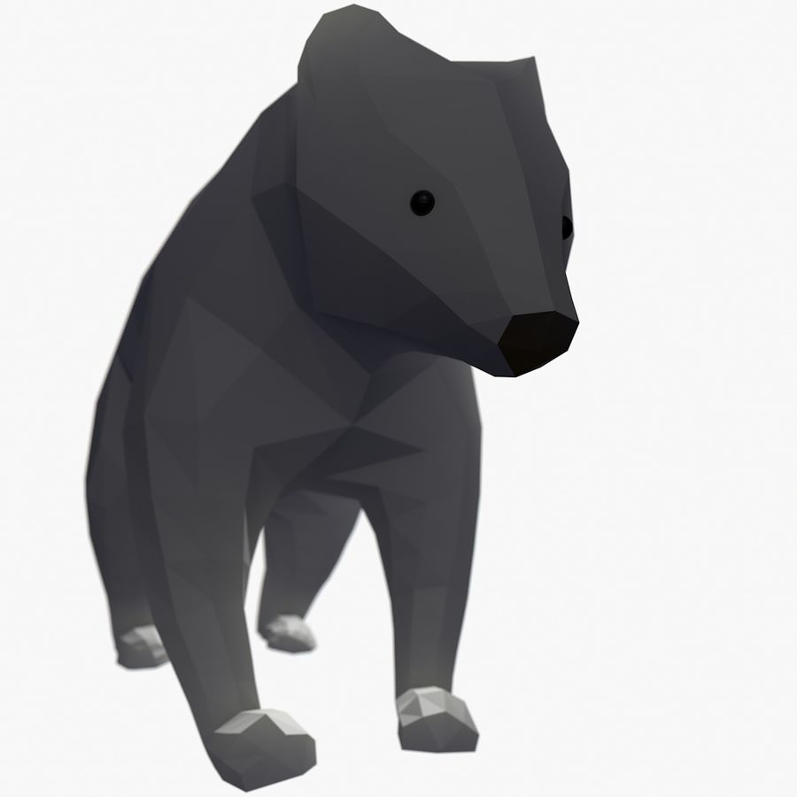 Bear Mishka Low Poly royalty-free 3d model - Preview no. 1
