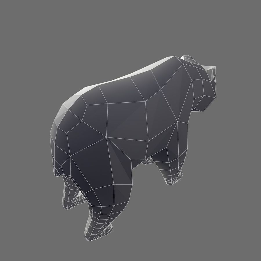 Bear Mishka Low Poly royalty-free 3d model - Preview no. 11