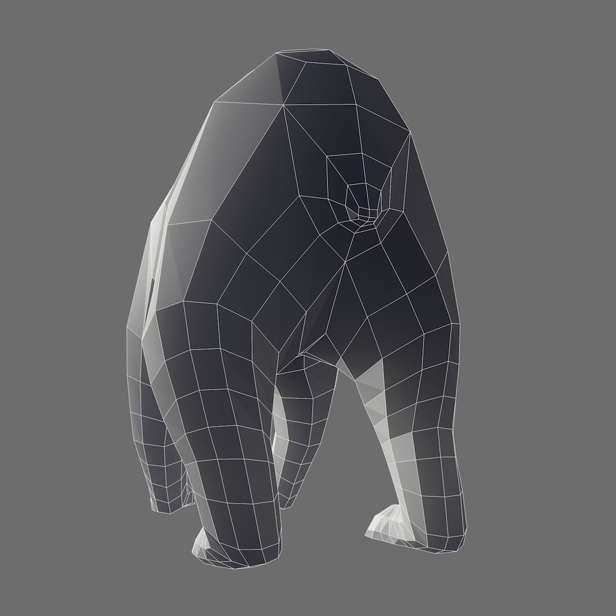 Bear Mishka Low Poly royalty-free 3d model - Preview no. 9