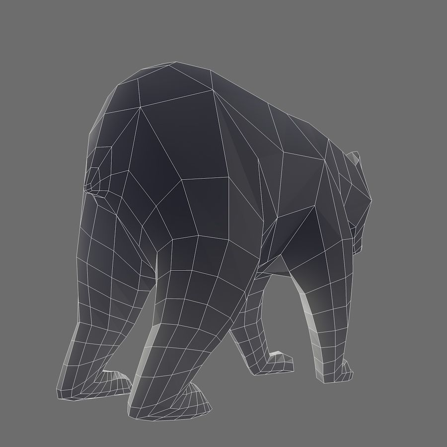 Bear Mishka Low Poly royalty-free 3d model - Preview no. 10
