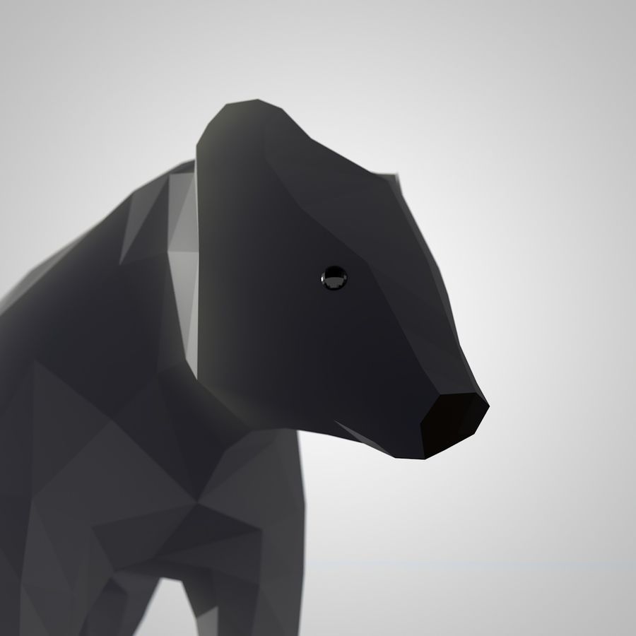 Bear Mishka Low Poly royalty-free 3d model - Preview no. 4