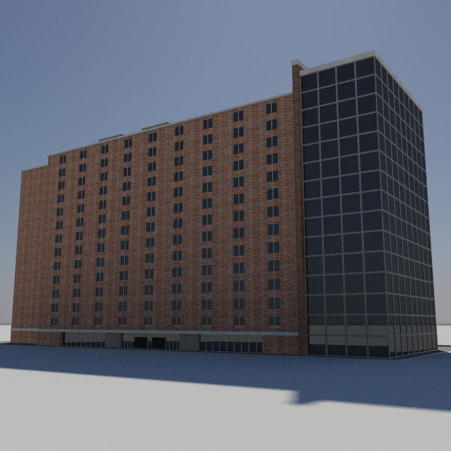 Hospital Business City Building AA2 royalty-free 3d model - Preview no. 5