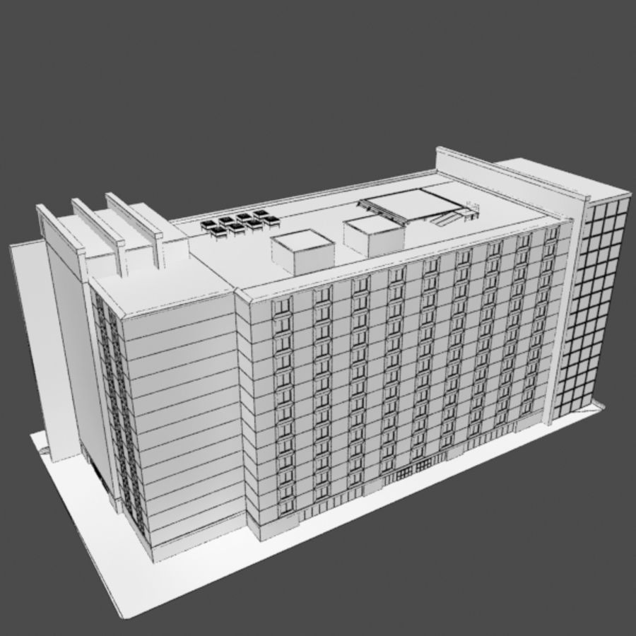 Hospital Business City Building AA2 royalty-free 3d model - Preview no. 11