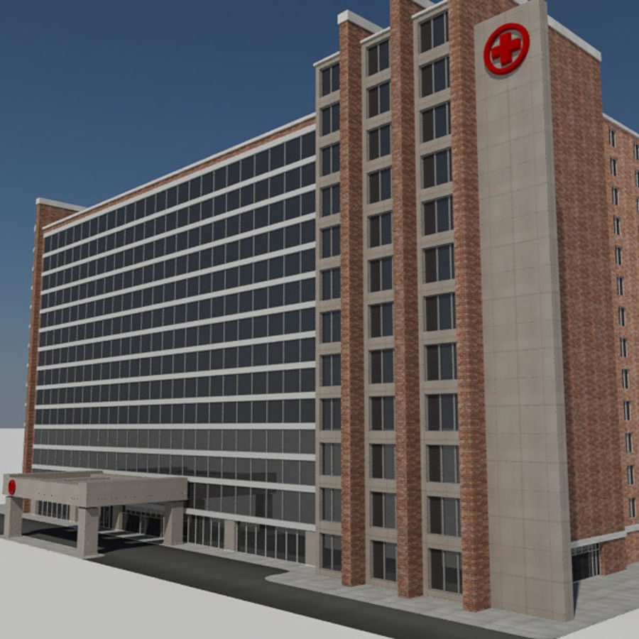 Hospital Business City Building AA2 royalty-free 3d model - Preview no. 6