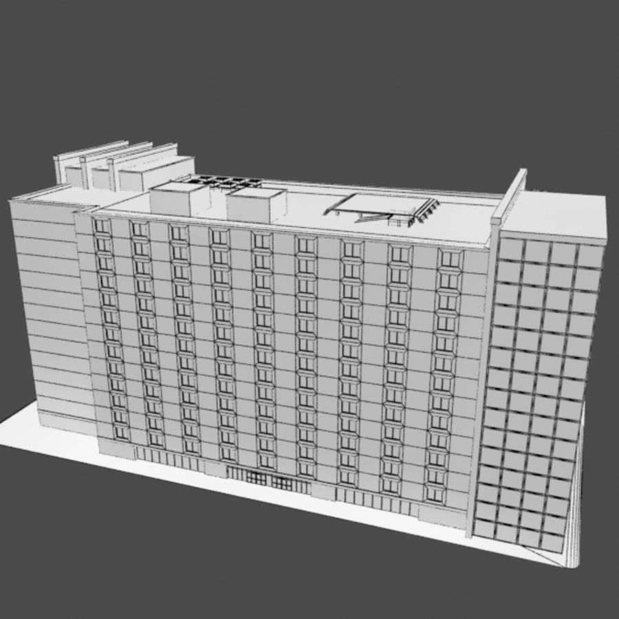Hospital Business City Building AA2 royalty-free 3d model - Preview no. 10