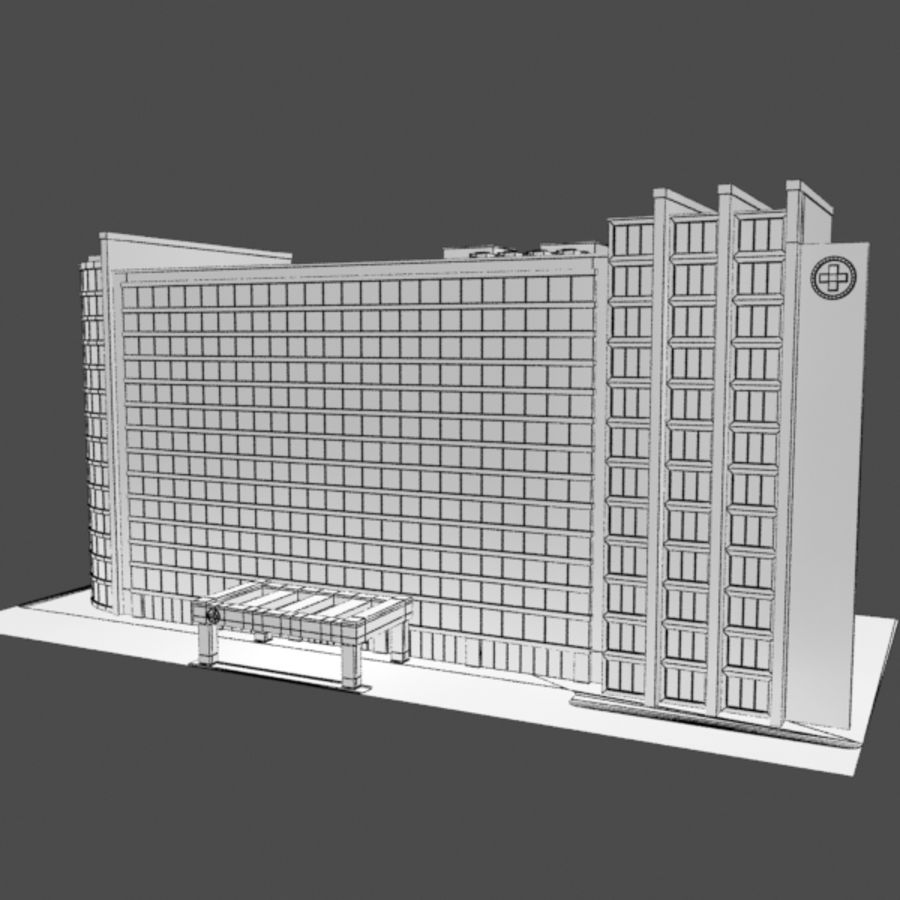Hospital Business City Building AA2 royalty-free 3d model - Preview no. 8