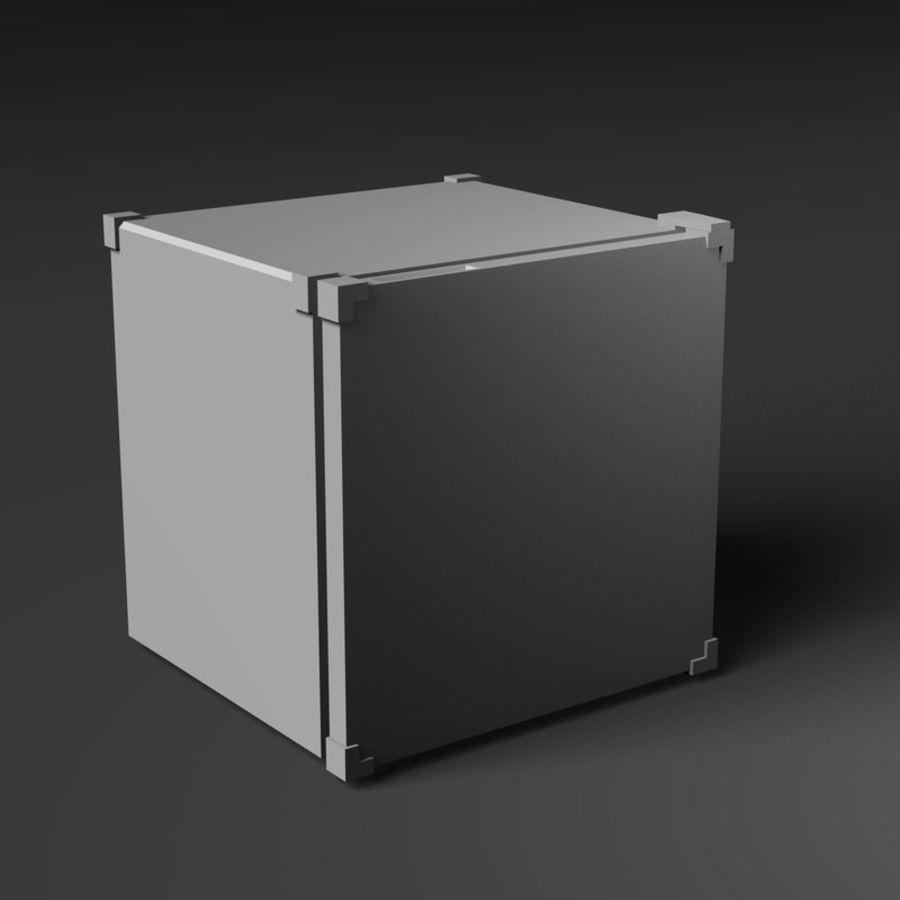 Mini Fridge royalty-free 3d model - Preview no. 7
