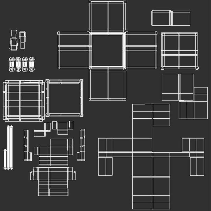 Mini Fridge royalty-free 3d model - Preview no. 13