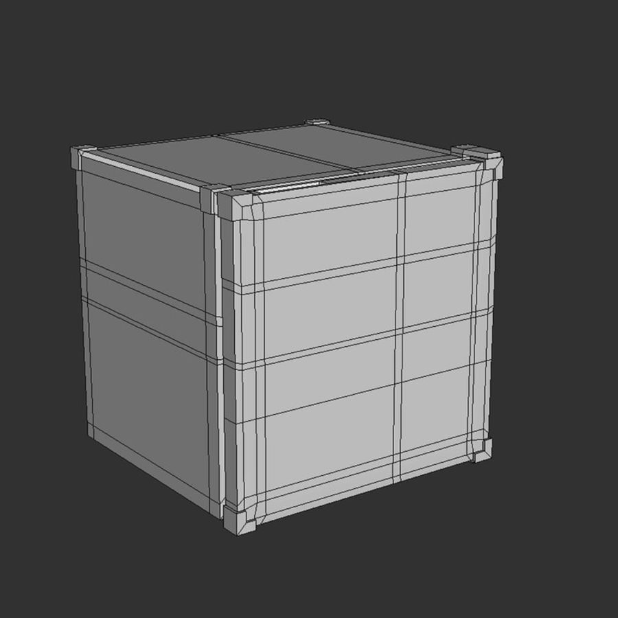 Mini Fridge royalty-free 3d model - Preview no. 8
