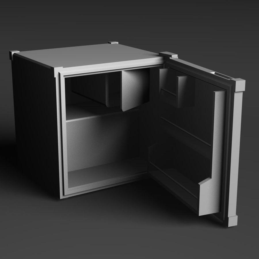 Mini Fridge royalty-free 3d model - Preview no. 1