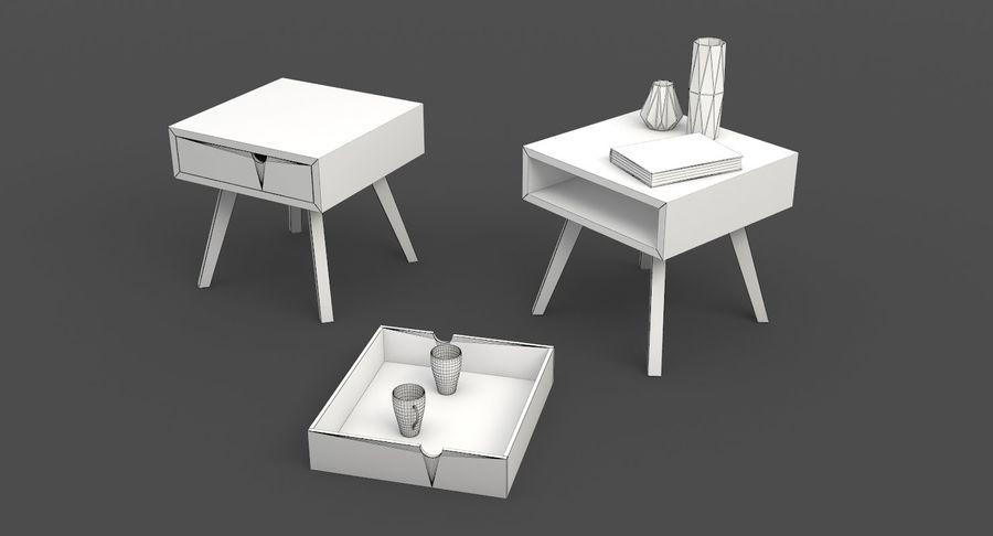table de chevet royalty-free 3d model - Preview no. 9