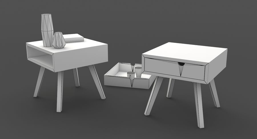 table de chevet royalty-free 3d model - Preview no. 11