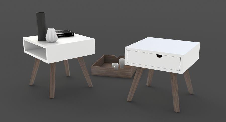 table de chevet royalty-free 3d model - Preview no. 6