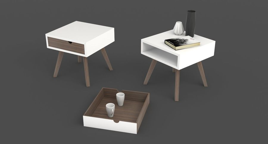 table de chevet royalty-free 3d model - Preview no. 4