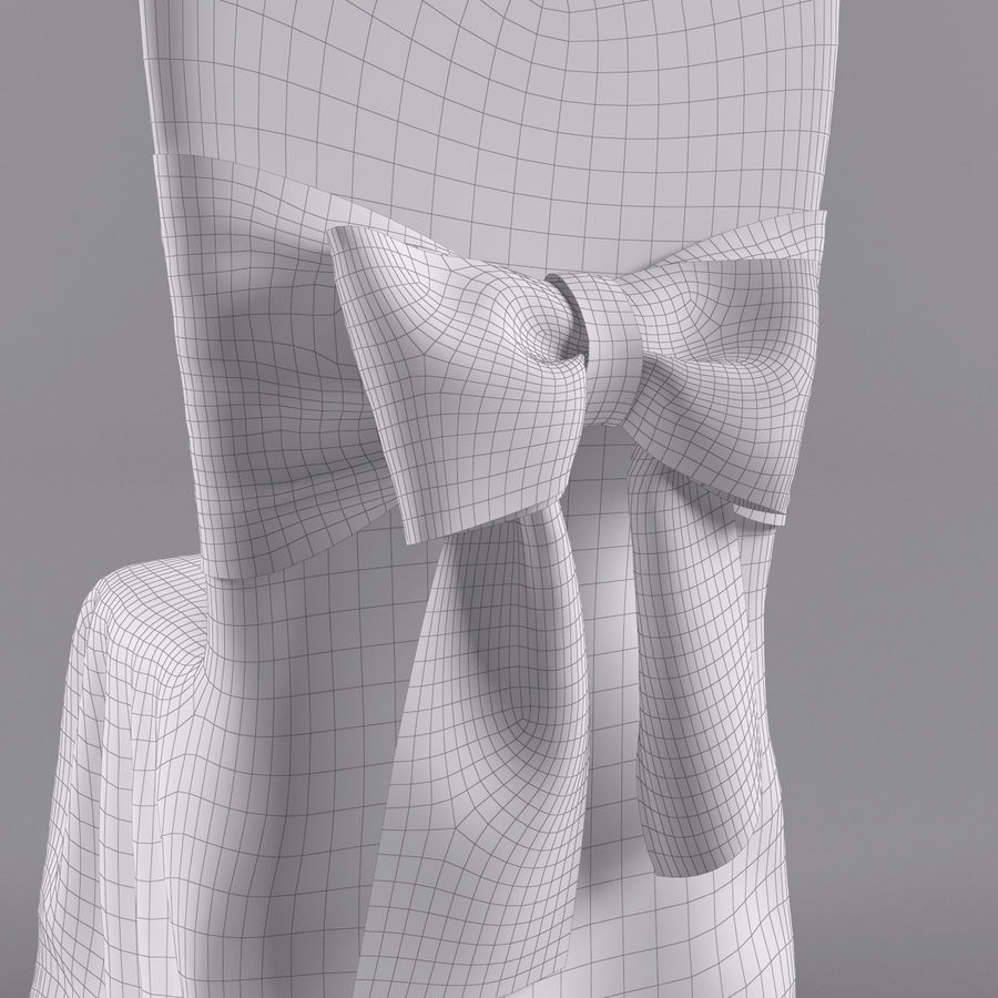 wedding chair royalty-free 3d model - Preview no. 6
