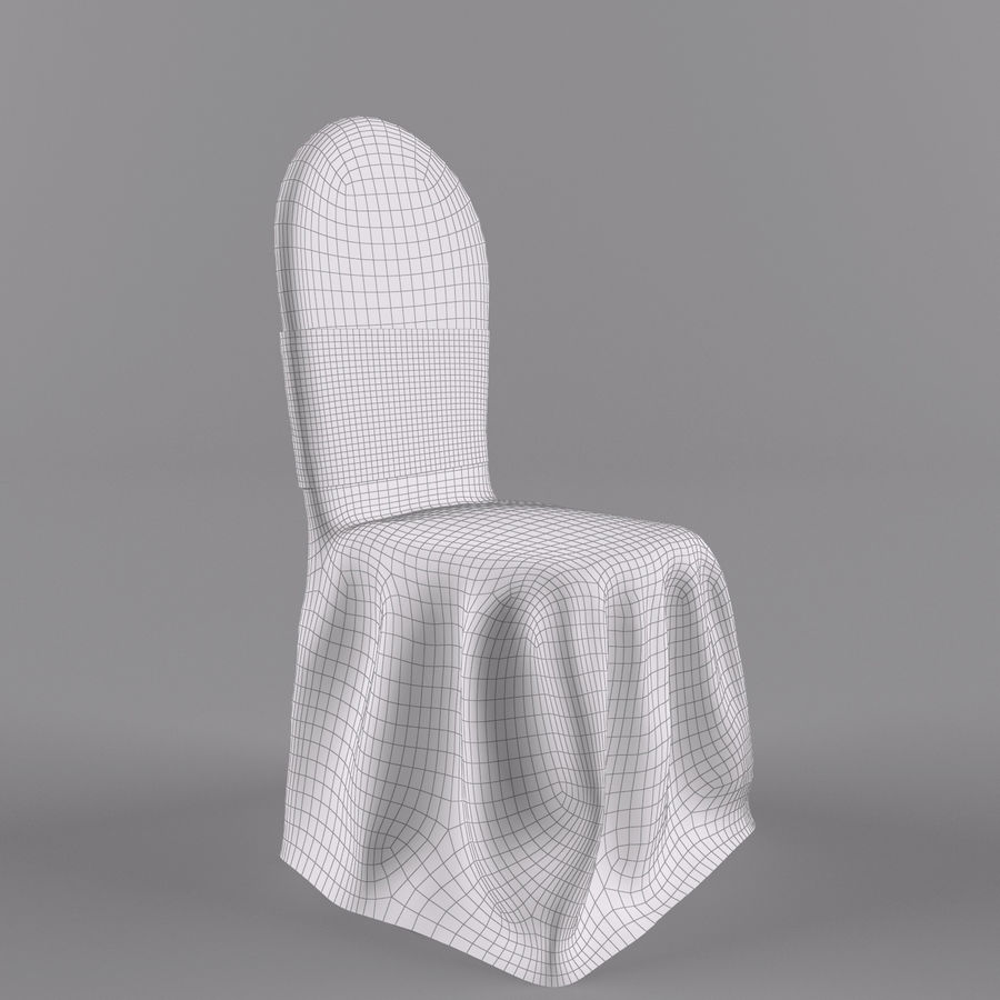 wedding chair royalty-free 3d model - Preview no. 5