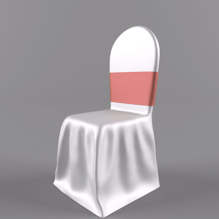 wedding chair royalty-free 3d model - Preview no. 4
